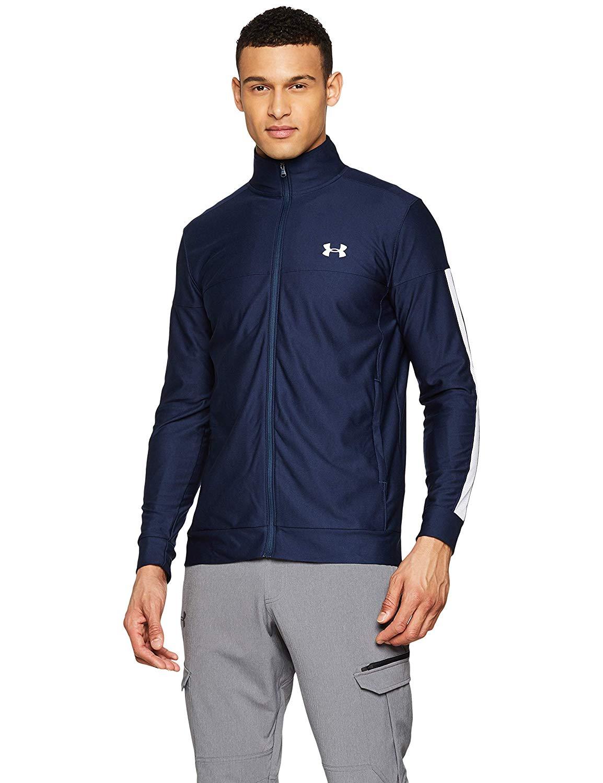 Veste de Sport Under Armour Sportstyle Pique Track Jacket - Taille L, Bleu