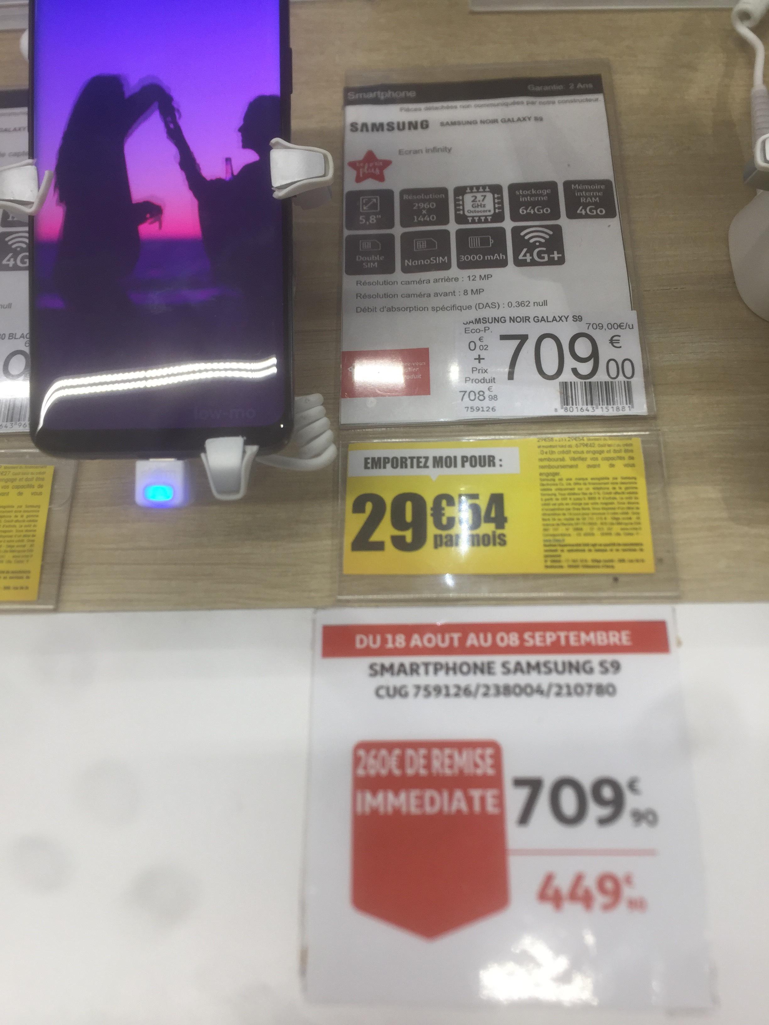 "Smartphone 5.8"" Samsung Galaxy S9 - 64Go (Mériadeck 33)"