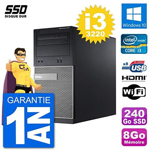 Sélection de tours PC reconditionnées - Ex : Tour PC Dell 3010 MT (i3-3220, 8 Go RAM, 240 Go SSD, WiFi, Win10 - Vendeur tiers)