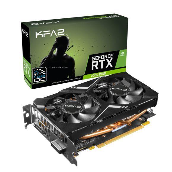 Carte Graphique KFA2GeForce RTX 2060 Super Mini 1-Click OC