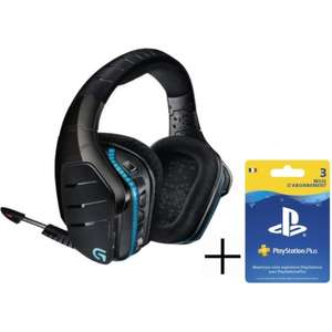 Casque-Micro Gaming sans fil Logitech G933 Artemis Spectrum (PS4, Xbox One et PC) - Surround 7.1 + Abonnement PlayStation Plus 3 Mois