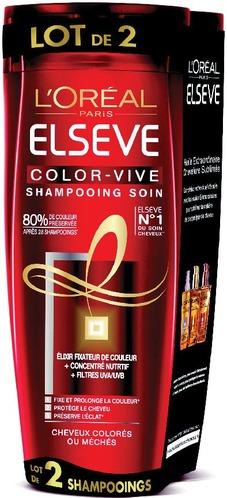 Lot de 2 Shampooing Elseve L'Oréal Paris - 2 x 250 ml, Plusieurs variétés (via 3,35€ sur la carte fidélité)