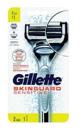 Rasoir Gillette Skinguard Sensitive - 2 Lames (via 6.3€ en ticket Leclerc)
