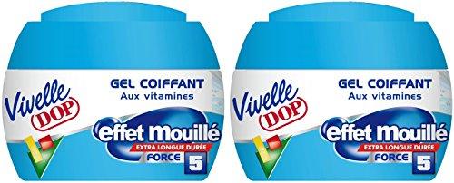 Lot de 2 gels coiffants Vivelle Dop - 150 ml, Effet mouillé force 5