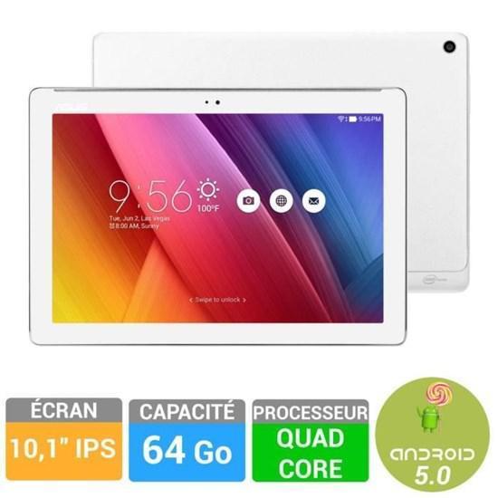 """Tablette 10"""" Asus ZenPad Z300C 64Go Blanche"""
