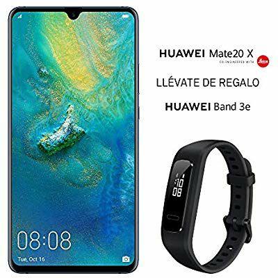 "Smartphone 7,2"" Huawei Mate 20 X - Kirin 980, 6 Go de RAM, 128 Go de Stockage, Bleu + Bracelet Connecté Huawei Band 3e"