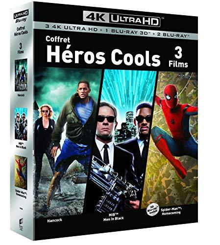 Coffret Blu-Ray UHD 4K / 3D / 2D Super-Héros - Hancock + Spider-man : Homecoming + Men in Black