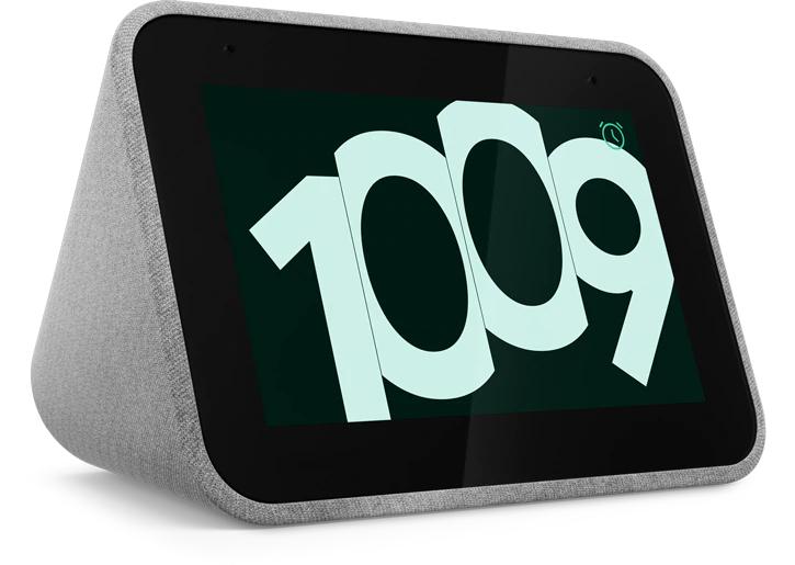 Réveil assistant vocal Lenovo Smart Clock compatible Google Assistant