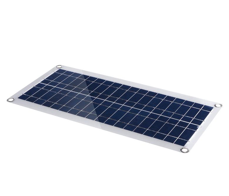 Panneau solaire 30W - Double ports USB 5V, DC 12V / 18V