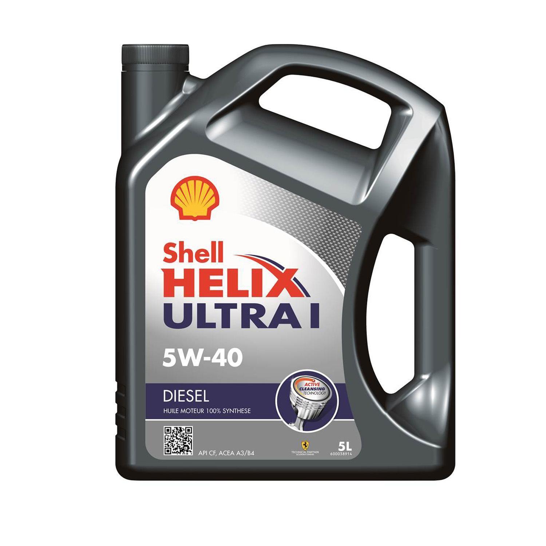 Bidon de 5L Huile moteur Shell Helix Ultra Diesel 5w-40 (via 8.35€ sur la carte fidélité)