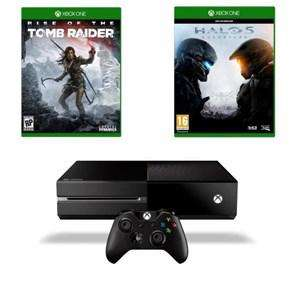 Console Xbox One 1 To + Rise of the Tomb Raider + Halo 5