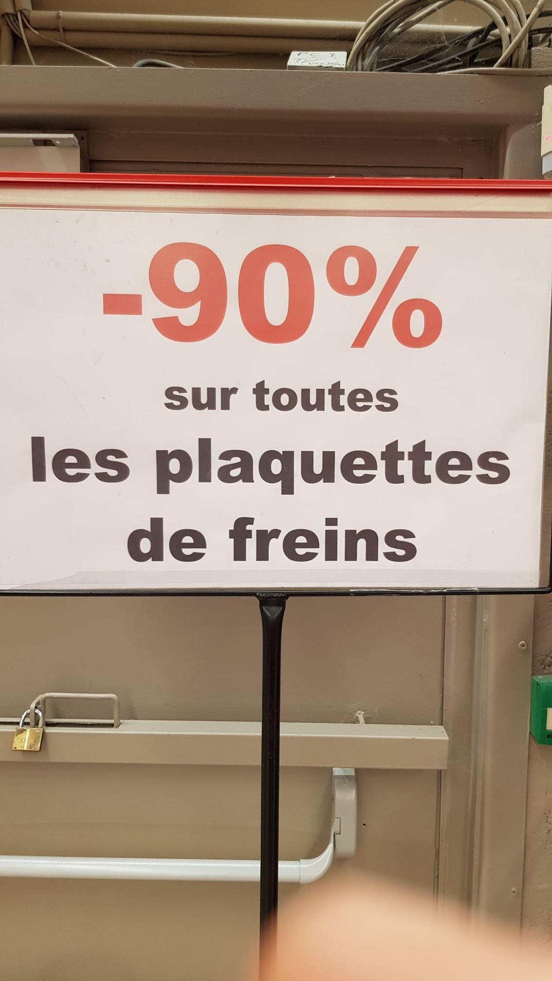 90% de réduction sur toutes les Plaquettes de frein - Vaulx-en-Velin (69)