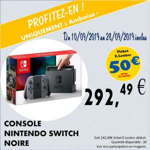 Console Nintendo Switch (via 50€ en ticket Leclerc) - Amboise (37)