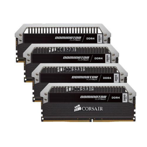 Kit Memoire PC 4 x 4 Go DDR4 Corsair Dominator Platinum (16 Go, 3000 Mhz, CAS 15)