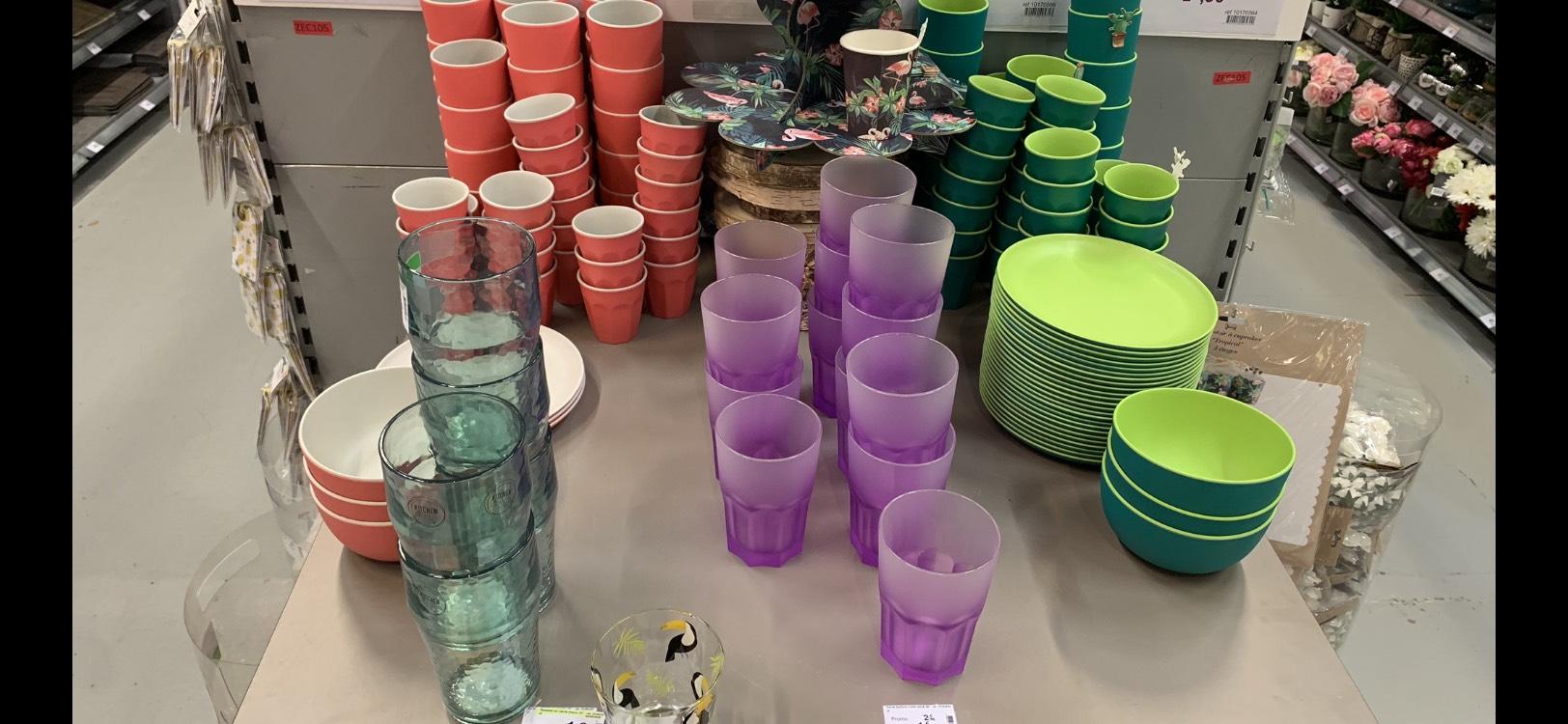 Sélection de vaisselle en bambou en promotion - Ex: Assiette à 1€ - Massy (91)