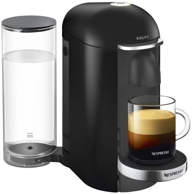 Cafetière à capsules Krups Nespresso Vertuo Plus YY2779FD - noir brillant ou noir mat