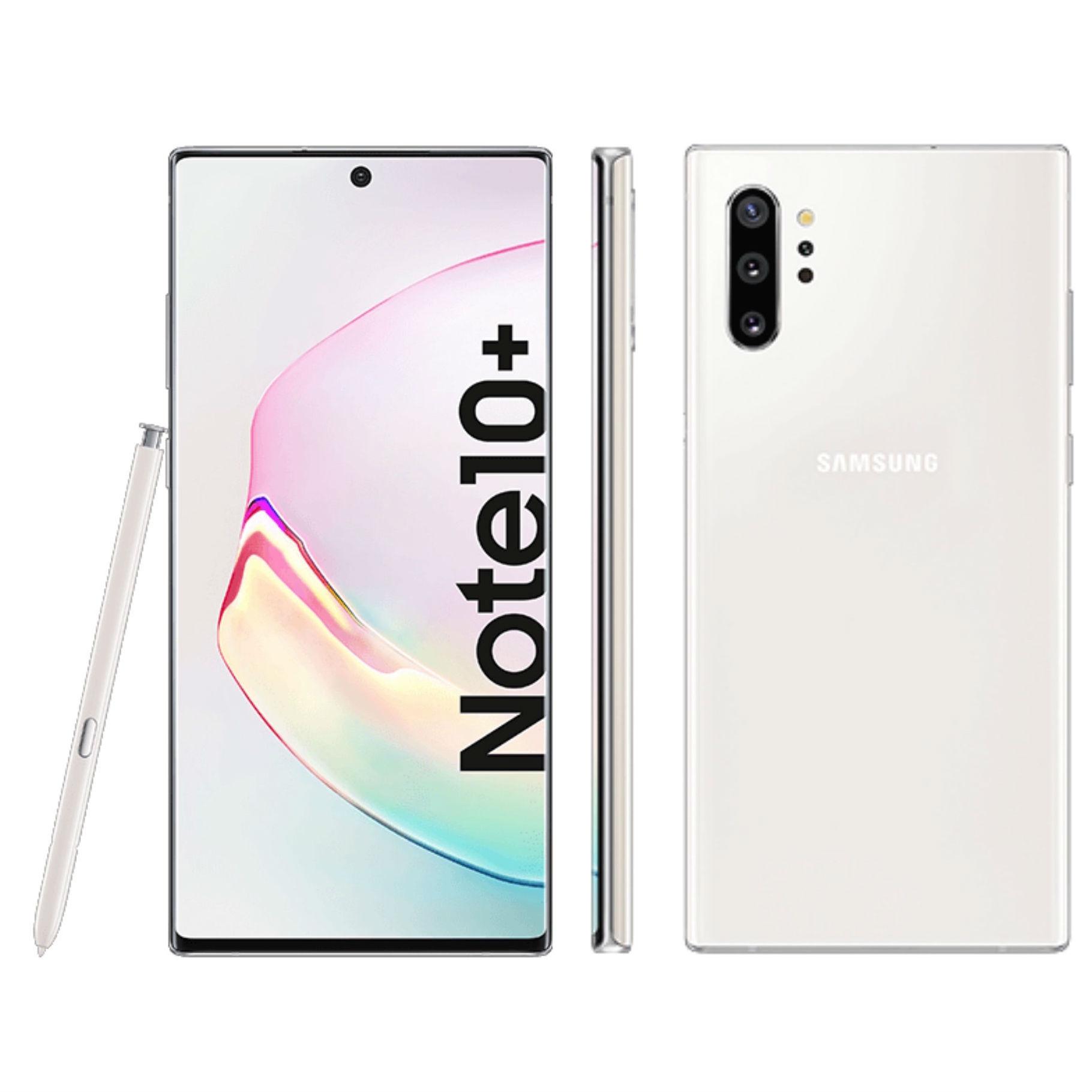 """Smartphone 6.8"""" Samsung Galaxy Note 10+ Plus - RAM 12 Go, 256 Go, Aura Blanc"""