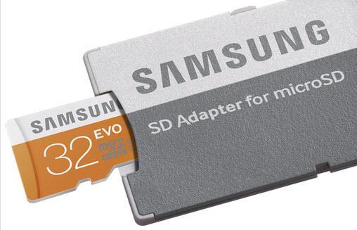 Carte micro SDHC Samsung Evo Class 10 -  32 Go + adapteur