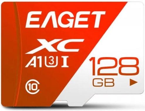 Carte mémoire Eaget Micro SDXC - 128 Go (Classe 10, A1, U3)