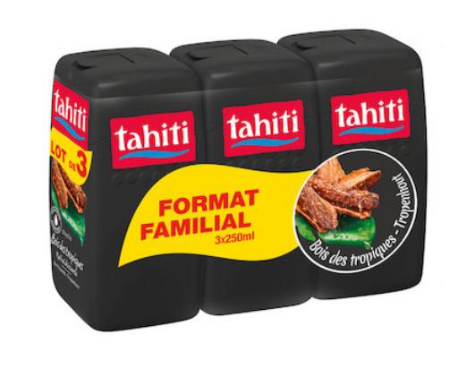 Lot de 3 gels douche Tahiti - Différentes variétés - 3x 250 ml (Via 3,47 € sur la Carte Fidélité)
