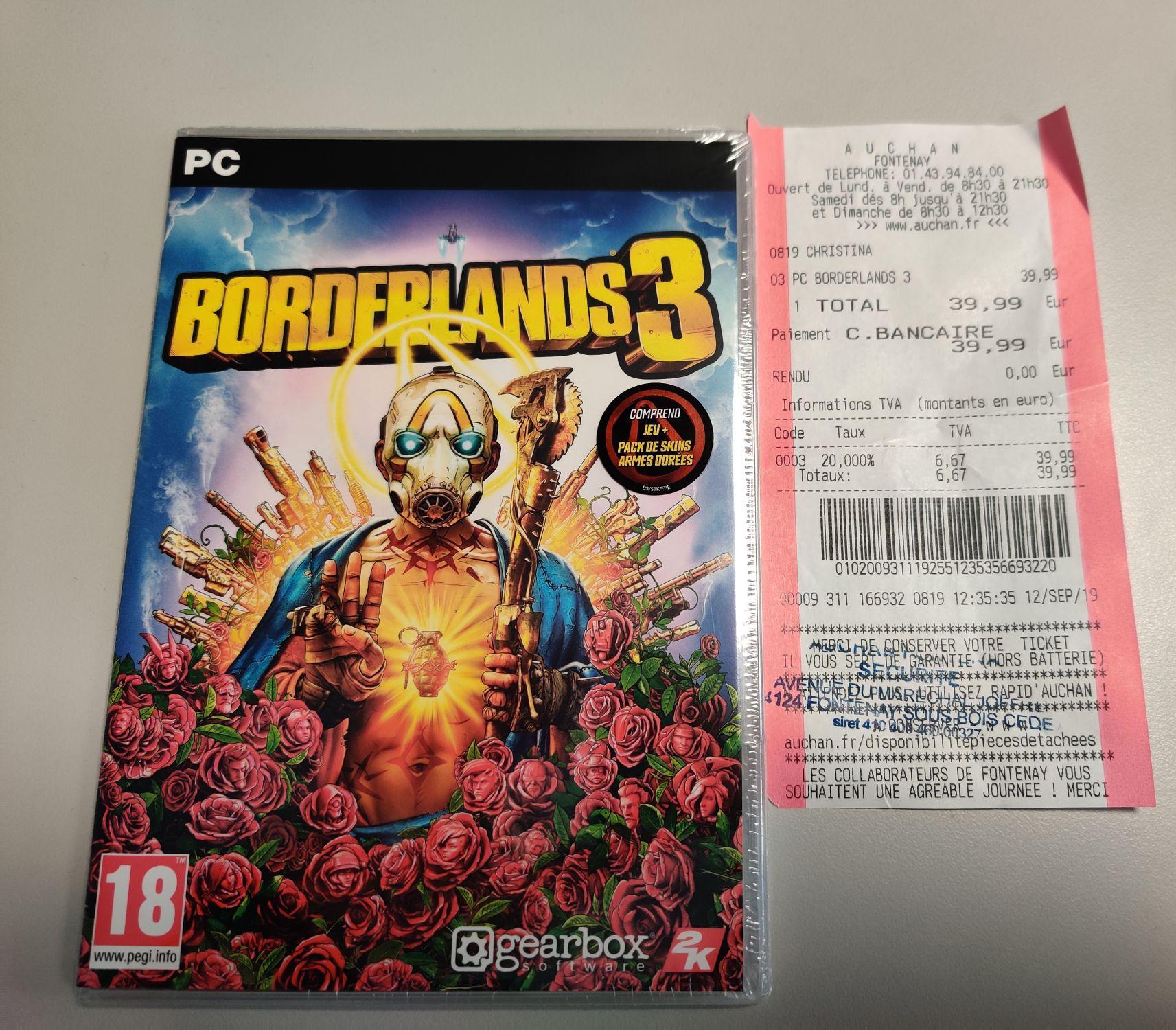 Borderlands 3 sur PC - Fontenay-sous-Bois (94) / Pérols (34)