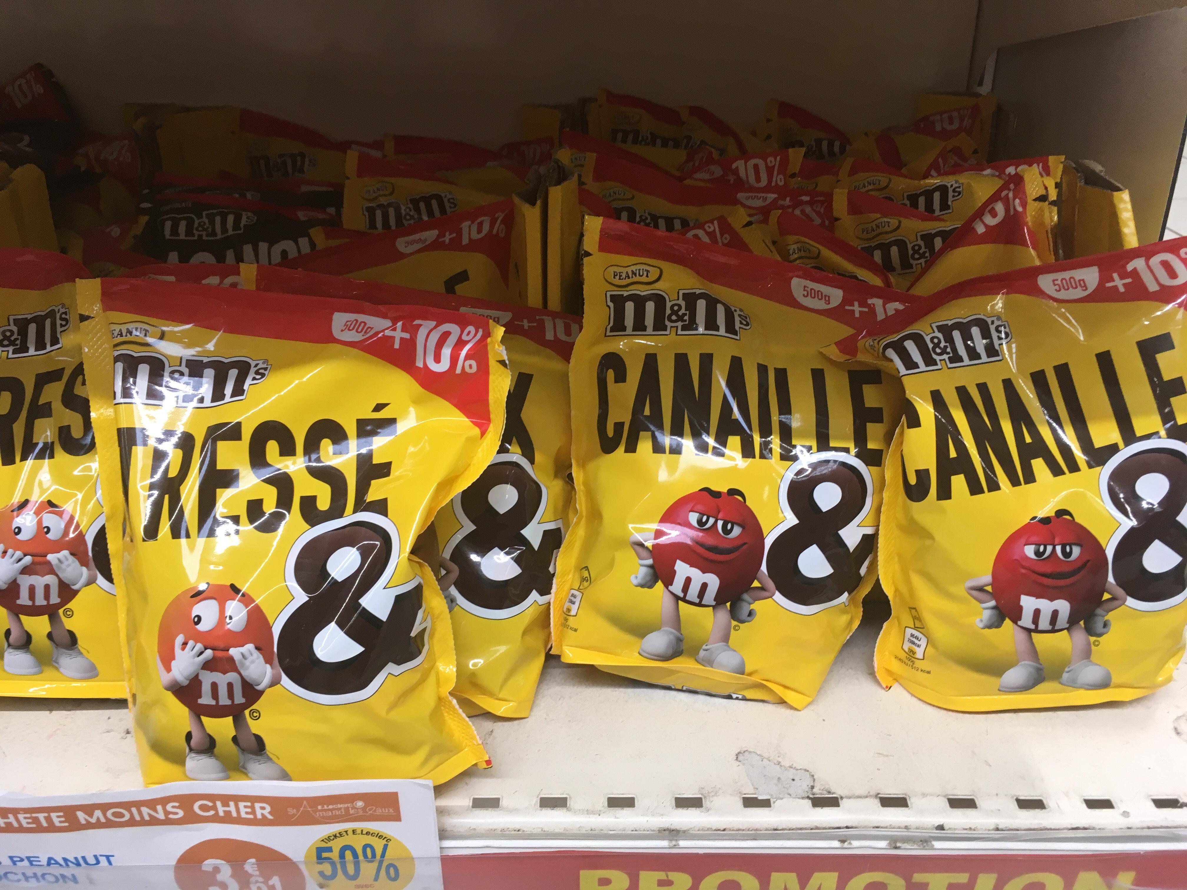 Paquet de M&M'S Peanuts ou Chocolat - 550g (via 1.81€ sur la carte fidélité) - Saint Amand les Eaux (59)