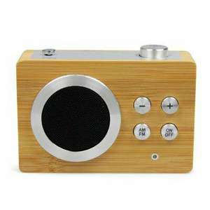 Radio AM/FM Mini Dolmen de Lexon - Bambou