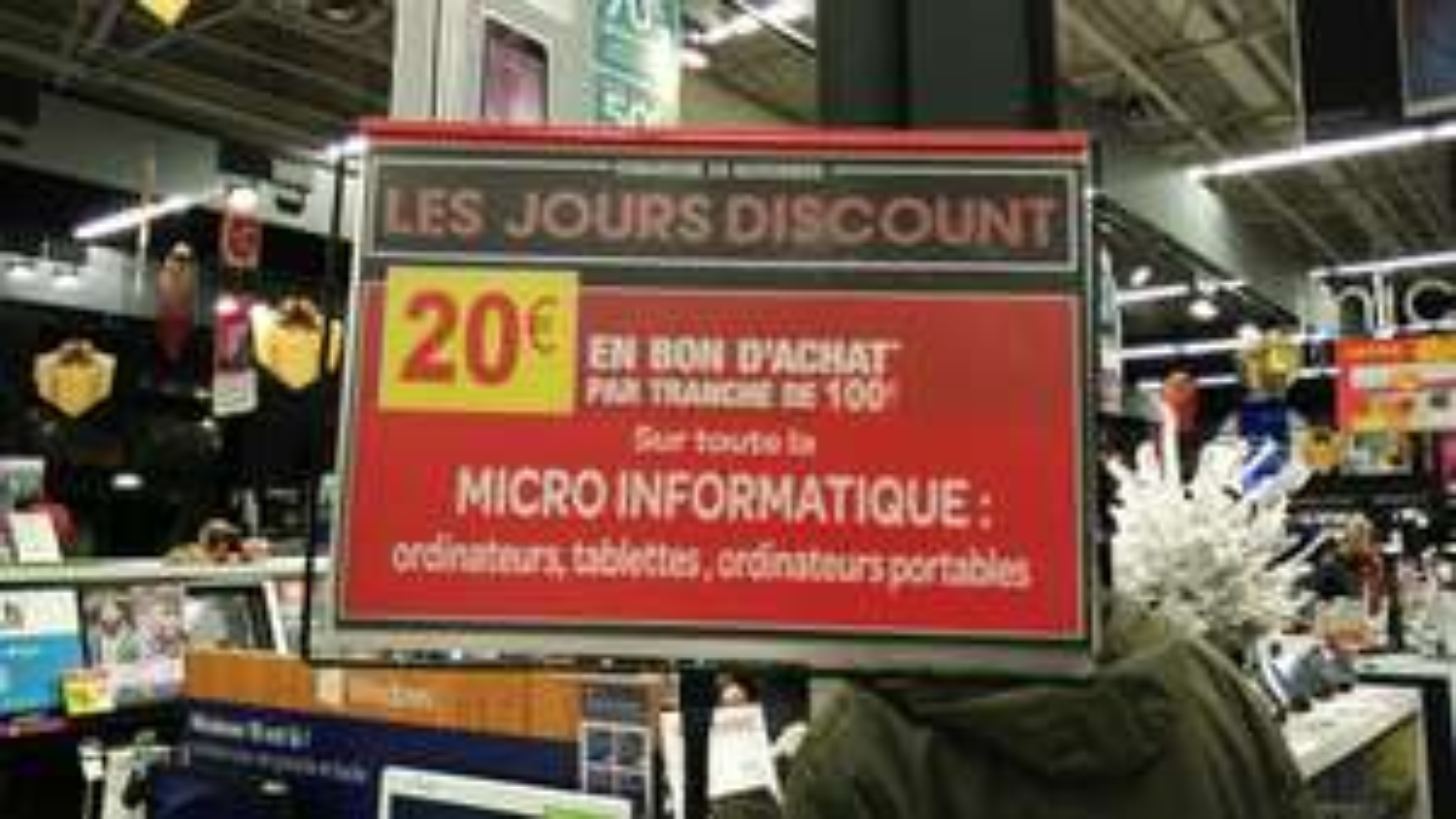 20€ en bon d'achats par tranche de 100€ sur toute la micro informatique et les téléviseurs
