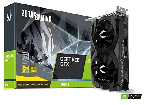 Carte graphique Zotac GeForce GTX 1660 Twin Fan 6 Go