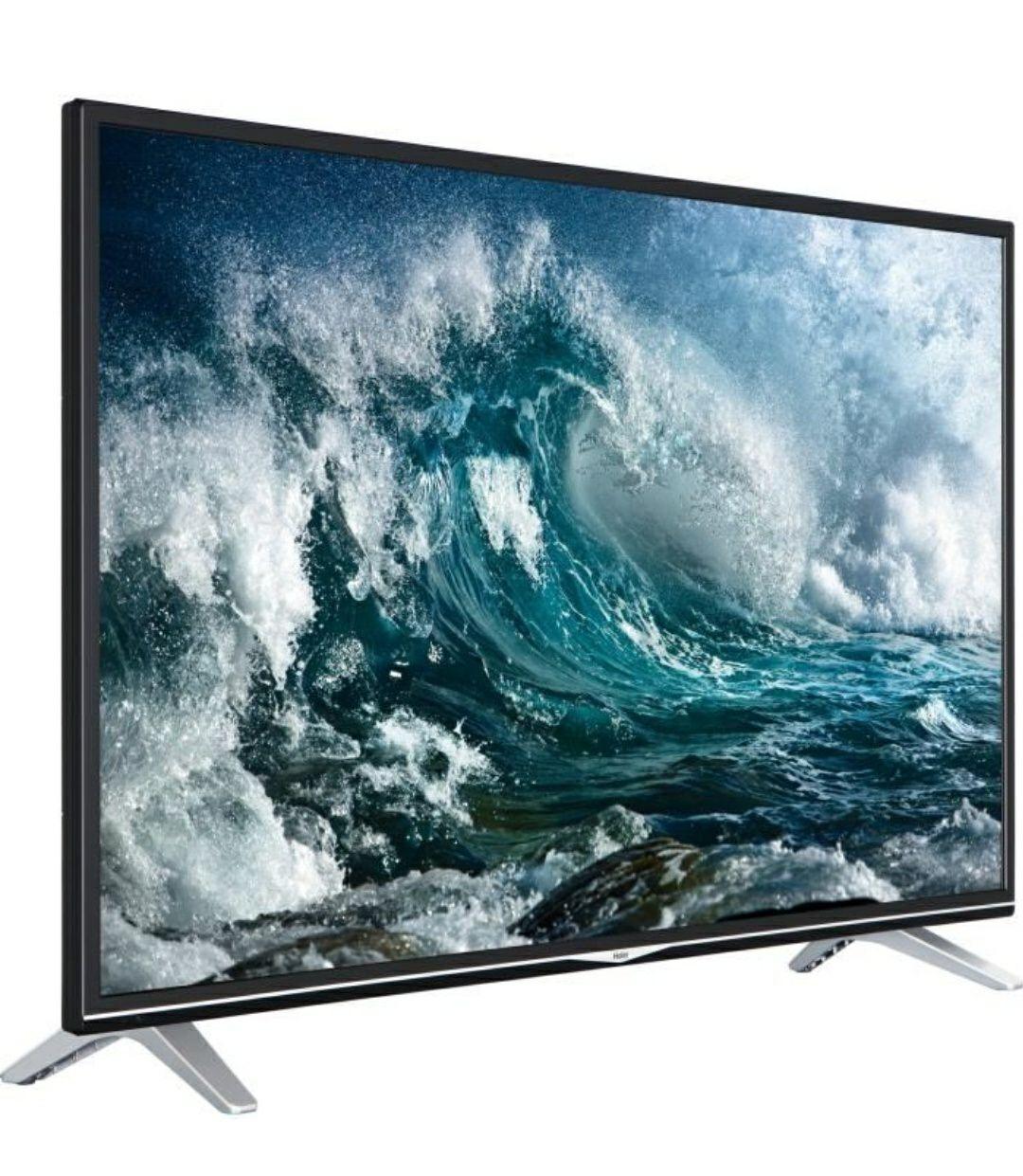 """TV 55"""" Haier LEU55V300S - LED, 4K UHD, Smart TV, 4 HDMI"""