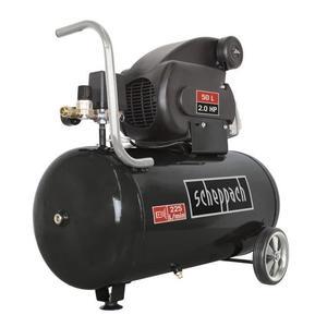 Compresseur d'air Scheppach HC60 Black (50 L, 10 bars) + bidon d'huile SAE 5W-40 (28 cl)