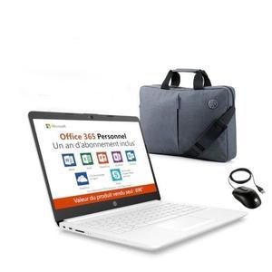 """Pack HP - PC portable 14"""" 14-cm0995nf (A4 9125, 4 Go de RAM, 32 Go, Windows 10) + sacoche + souris + licence d'un an à Office 365"""