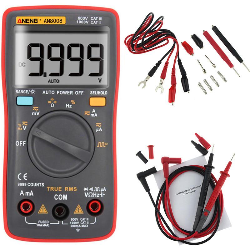 Multimètre Aneng AN8008 True RMS 9999 Point avec générateur de signaux