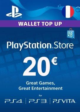 Carte PlayStation Network PSN de 20€ pour 17.99€ ou carte de 50€ pour 44.99€ (dématérialisée)