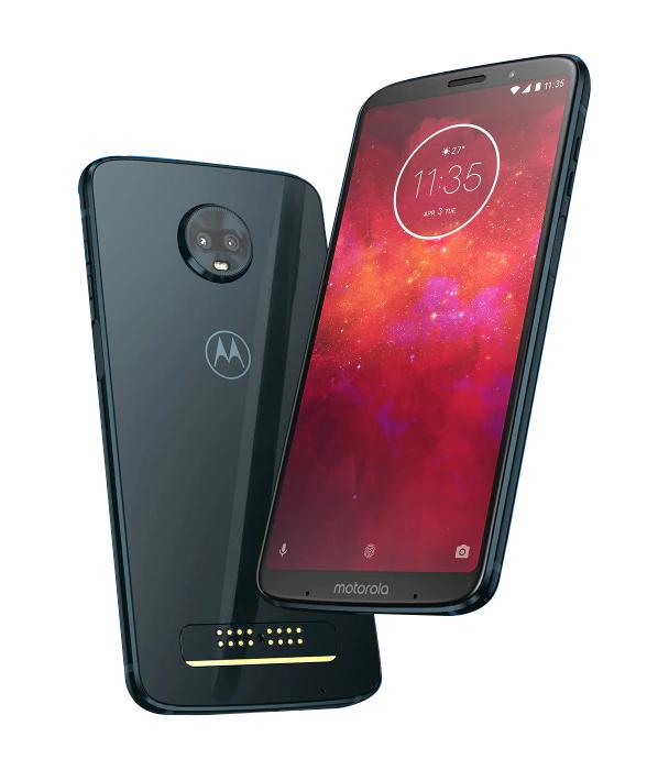 "Smartphone 6"" Moto Z3 Play (Full HD+, Snapdragon 636, RAM 4 Go, 64 Go, Double SIM) + 2 Moto Mods (Batterie + Enceinte JBL Soundboost)"
