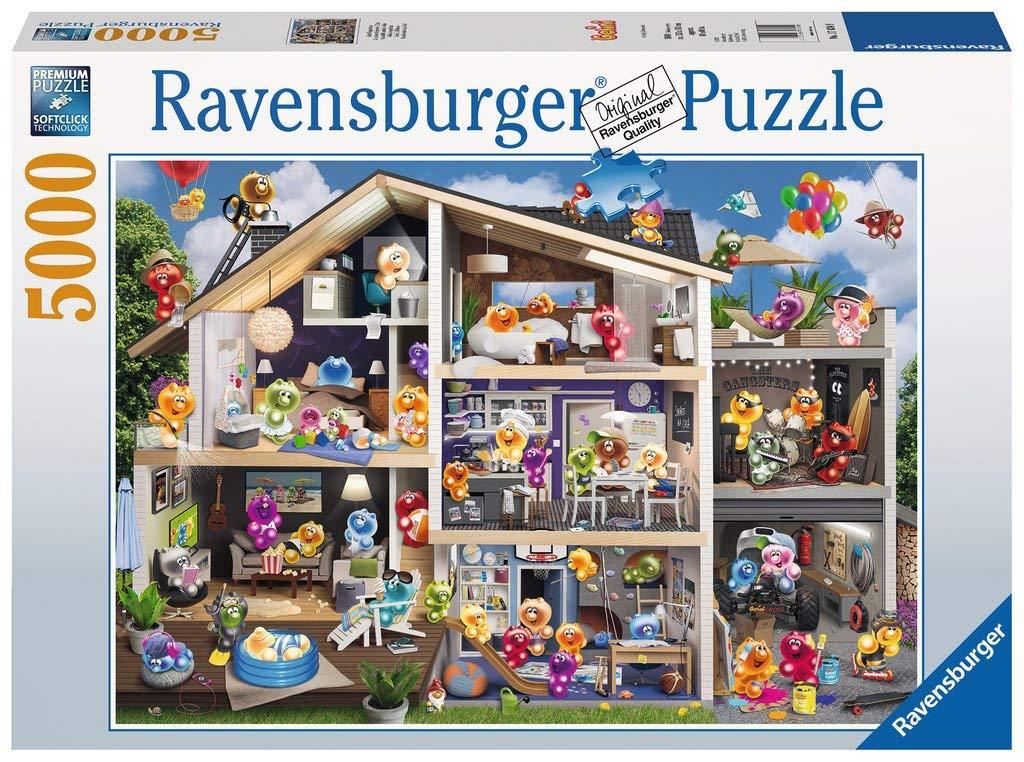 Sélection de Puzzles et Peintures par numéro en promotion - Ex : Puzzle Ravensburger 17434 Maison de Poupée Gelini