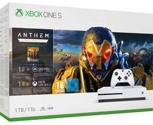 Console Microsoft Xbox One S 1 To Anthem + 1 mois EA Access/Xbox live gold/Gamepass