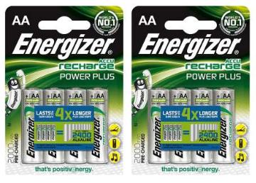 Lot de 8 piles rechargeables AA Energizer 2000mah