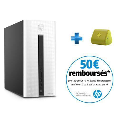 PC de bureau HP Pavilion 550-195NF (i5-6400, 1 To,  8 Go RAM, GTX 745 4 Go)