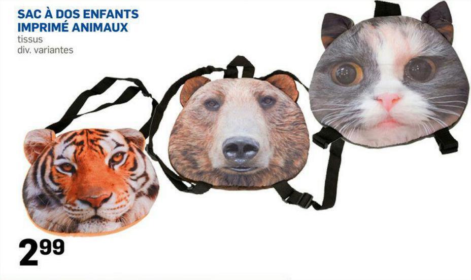 Sac à dos animaux 3D