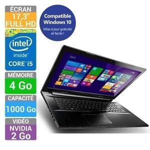 "PC portable 17,3""  Lenovo Ideapad Z70-80 : Full HD, i5-5200U, 4Go RAM, 1To, GT840M 2Go + Bon d'achat de 120€"