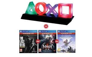 Lampe USB Symboles PlayStation Paladone + The Last of Us Remastered ou NIOH ou Horizon Zero Dawn (Frontaliers Belgique - Smartoys.be)