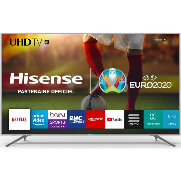 """TV 75"""" Hisense H75BE7410 - LED, 4K UHD, HDR 10+, Dolby Vision, Smart TV (+ Offre spéciale éventuelle)"""