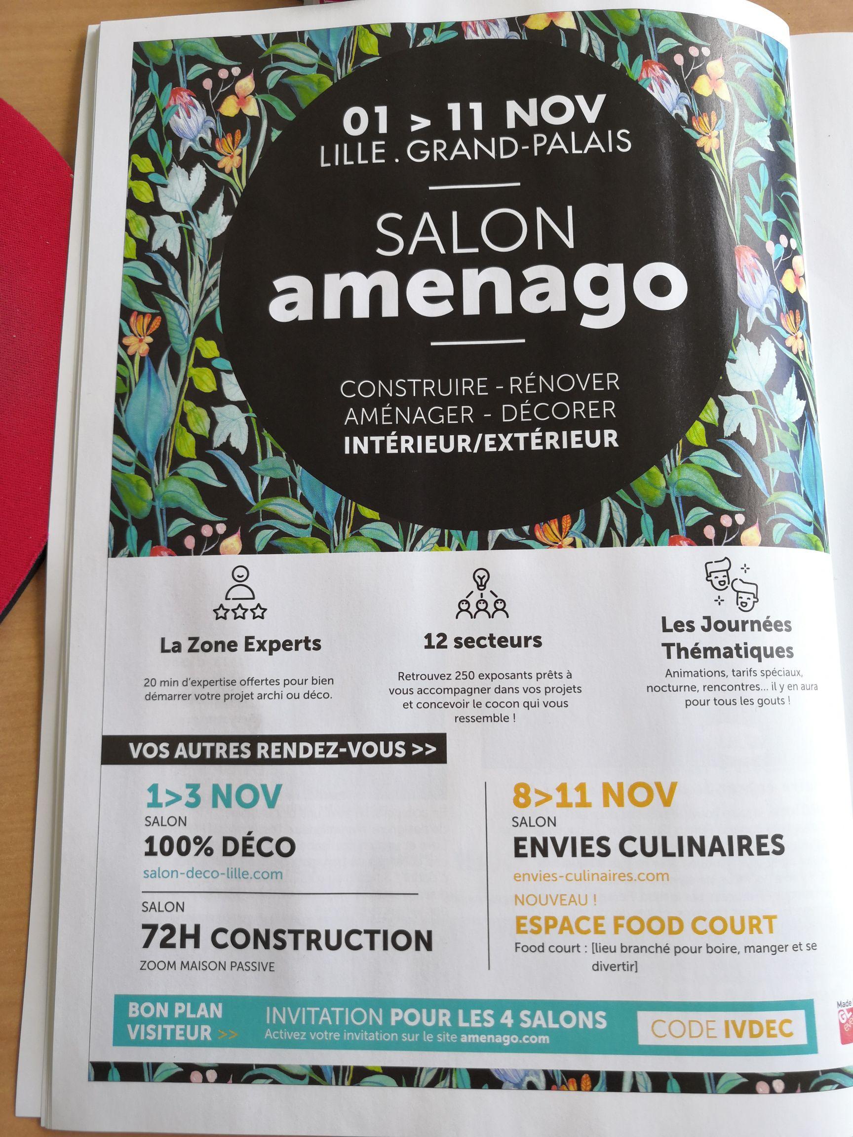 4 entrées gratuites au salon Amenago - Lille (59)