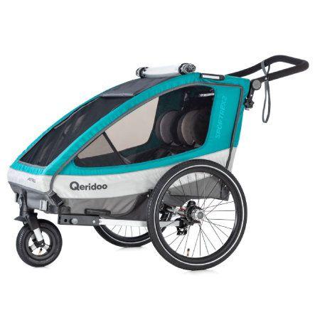 Remorque vélo pour enfant Qeridoo Sportrex 2 (2019) - coloris aigue-marine