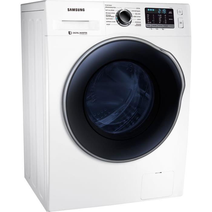 Lave-linge séchant Samsung WD80J5B30AW - 8 / 6 kg, 1400 trs/min, Moteur Digital Inverter (Via ODR de 40€)