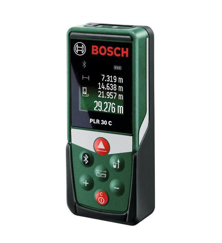 Télémètre Laser Connecté Bosch PLR 30C Connexion Bluetooth, Portée 30 m