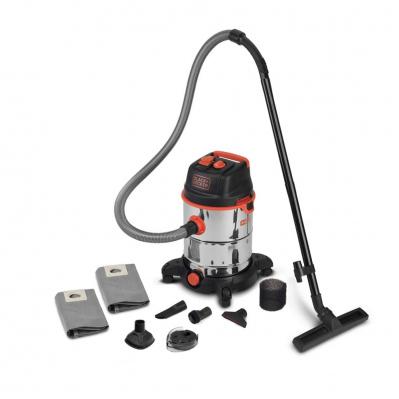 Aspirateur eau & poussières PRO 1600W - cuve INOX 30L + 7 & 3 nouveaux accessoires + prise synchronisee