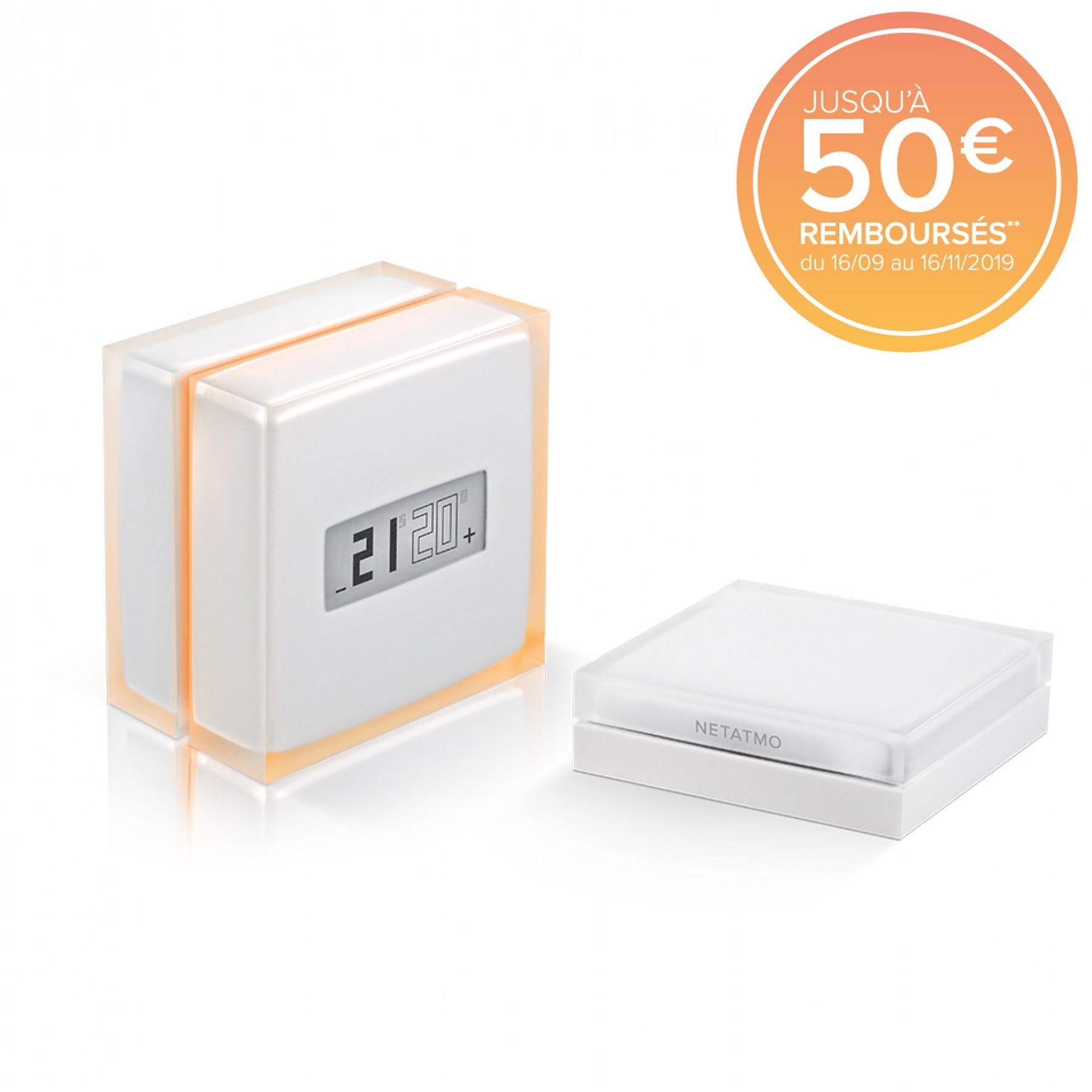Jusqu'à 50€ remboursé sur la gamme Netatmo - Ex : Thermostat intelligent (via ODR de 30€)