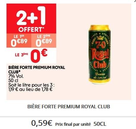 Lot de 3 bières Royal Club 7° - 3 x 50 cl